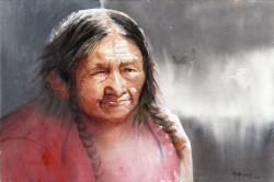 Portret staruszki 3 56x38